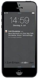 App-Feature Push Nachrichten direkt auf dem Handy