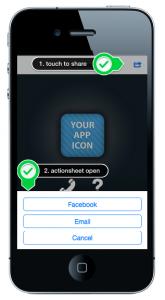 Die Sharing Funktion in Ihrer App