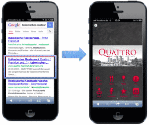 Mobile Website aka Web App über Google auffinden