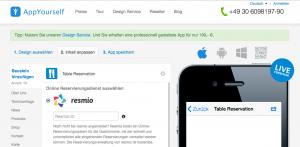 Tischreservierung in der App für Gastro