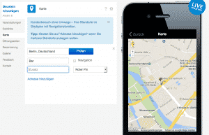 Mobile Website aka Web App im Dashboard