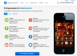 Gastro App selbst erstellen mit AppYourself