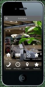Eine Autohaus App auf dem Smartphone