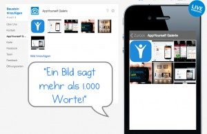 Die App Galerie für Ihre Bilder