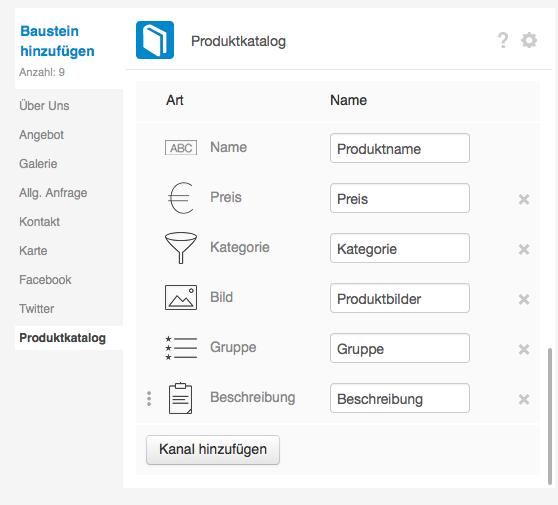 Keywordsuche: Keywords im Produktkatalog vermerken