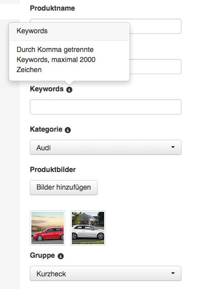 Passende Keyword wählen, um die Keywordsuche zu erleichtern