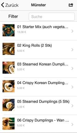 Mobile Speisekarte mit der eigenen Restaurant App