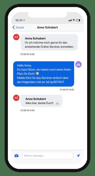 Chatten in der Connect App