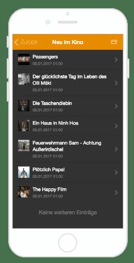 Kinovorstellungen in der City App Bernau LIVE