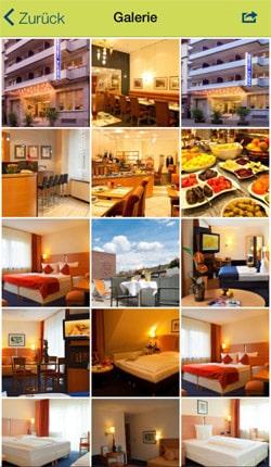 Zimmer Ausstattung in der Hotel App präsentieren