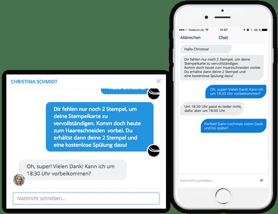 Individueller Kundenkontakt mit der Chat-Funktion