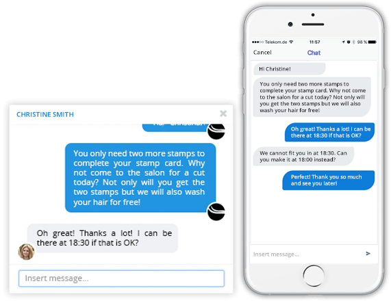 Mobile live chat - Exclusive messenger in your app