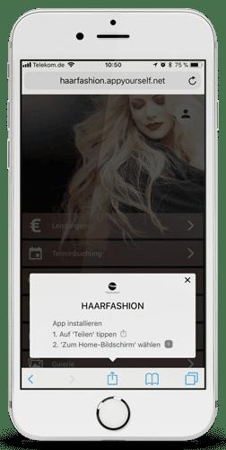 Installation der Progressive Web App auf dem iPhone
