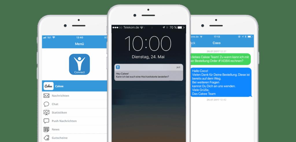 Auch über die AppYourself Connect App können Chat Nachrichten verschickt und angenommen werden
