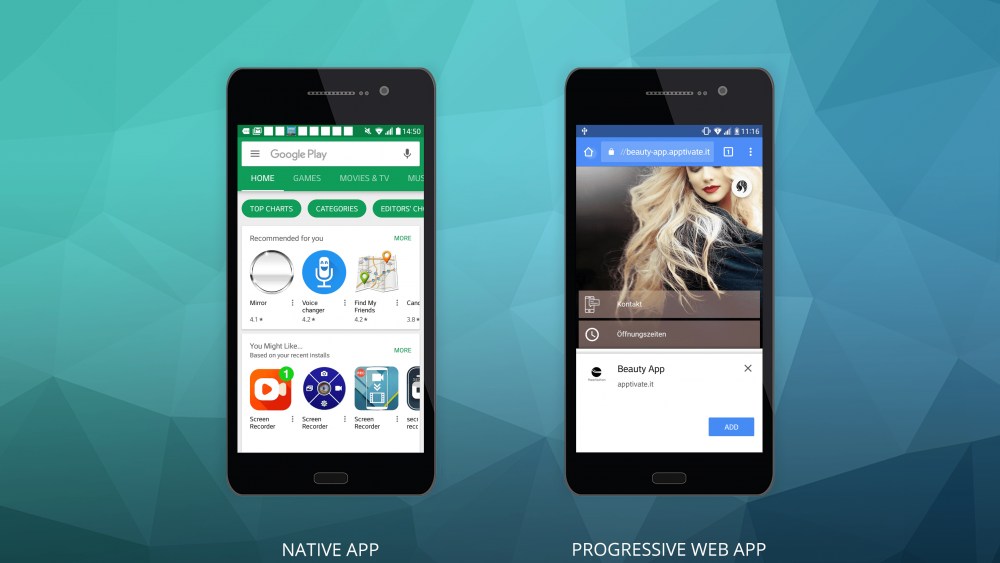 Native apps und Progressive Web App
