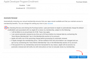 Un- and activation of your Apple Developer Account