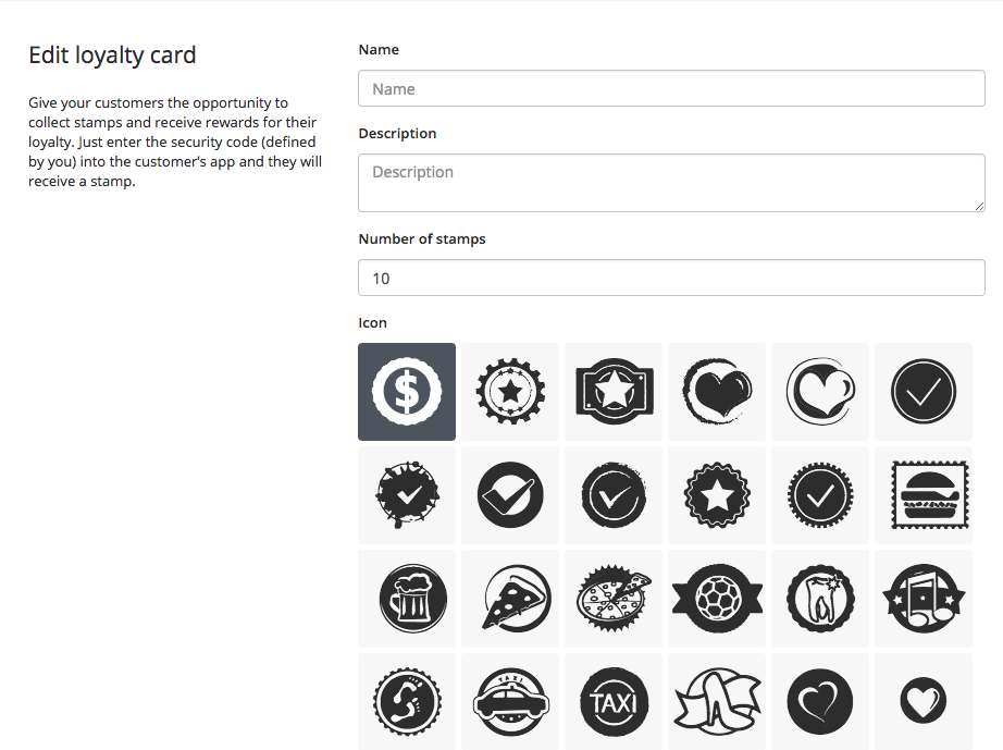 Using the loyalty card for your customers