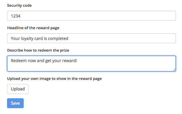 Use a security code for your loyalty card module