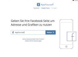 Der App Baukasten von AppYourself und die Verbindung mit Facebook