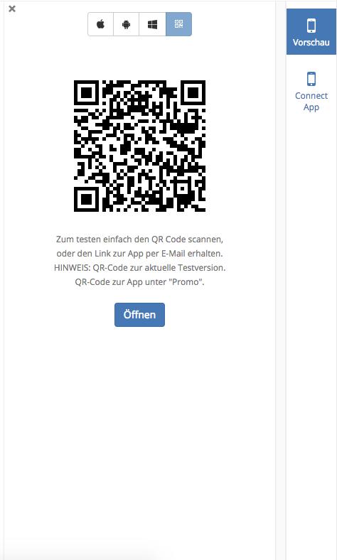 Der App Baukasten von AppYourself und die Nutzung des QR Codes