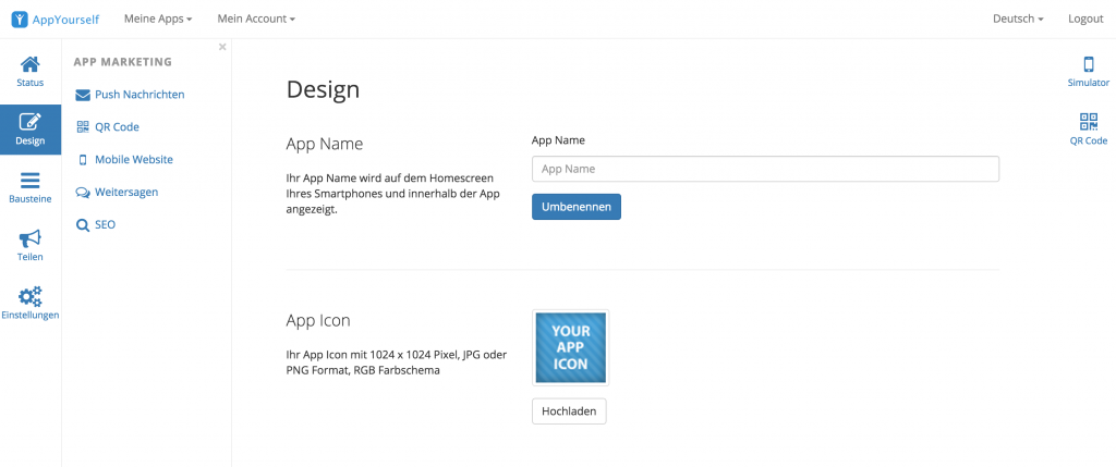 Relaunch der Design Sektion im Dashboard
