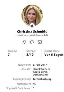 Chat-Funktion über das Kundenprofil aufrufen