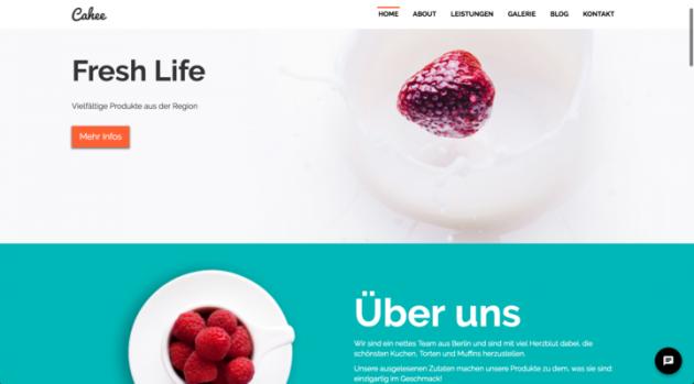 Das Chat Widget auf der eigenen Website integriert als Chat Bubble