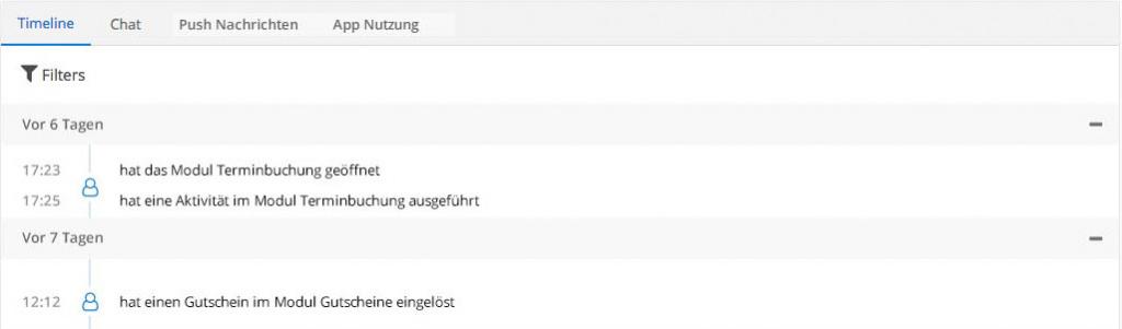 Das neue AppYourself Dashboard und dessen Timeline