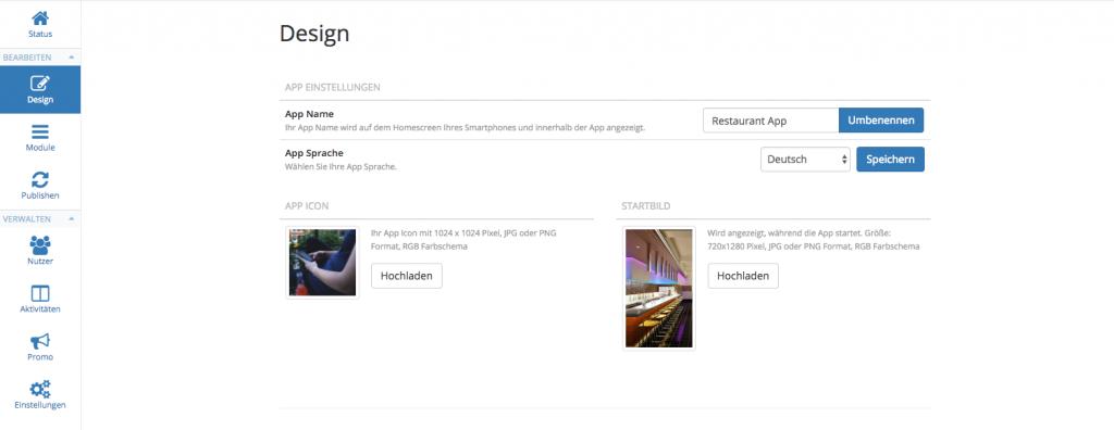 Das neue AppYourself mit den zwei neuen Sektionen Bearbeiten und Verwalten