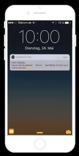 Mit der Friseur App Push Nachrichten versenden und so Terminausfällen vorbeugen