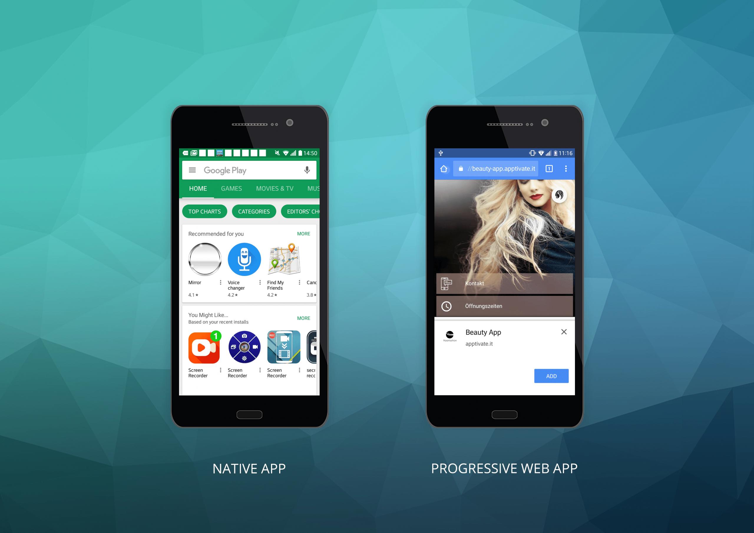 Comparison: Native Apps and Progressive Web Apps