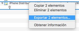 Exportar 2 elementos