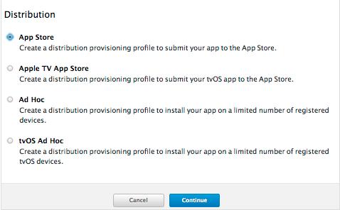 Distribución App Store