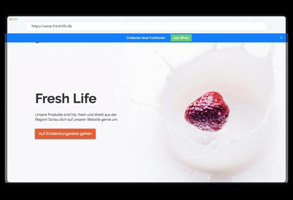 Der Werbebanner und deine smarte Website