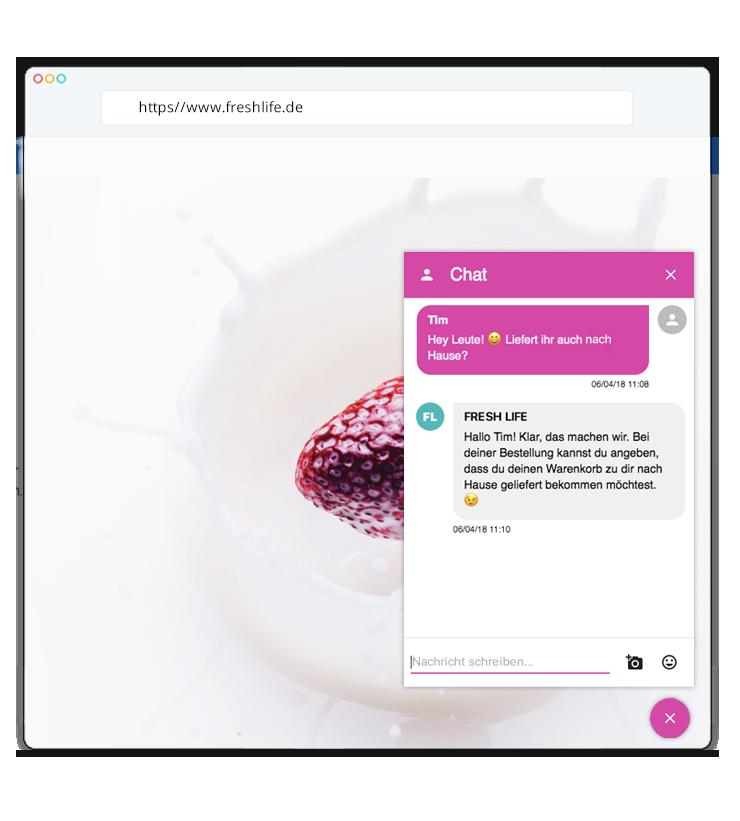 Die smarte Website mit integrierter Chat Funktion
