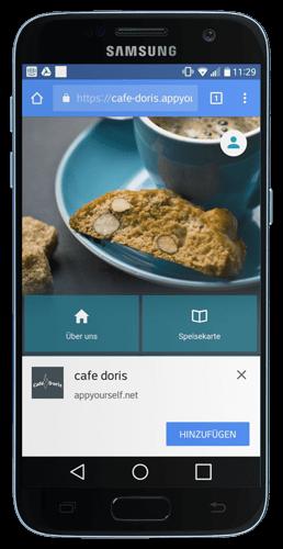 Installation der Progressive Web App auf einem Android Gerät