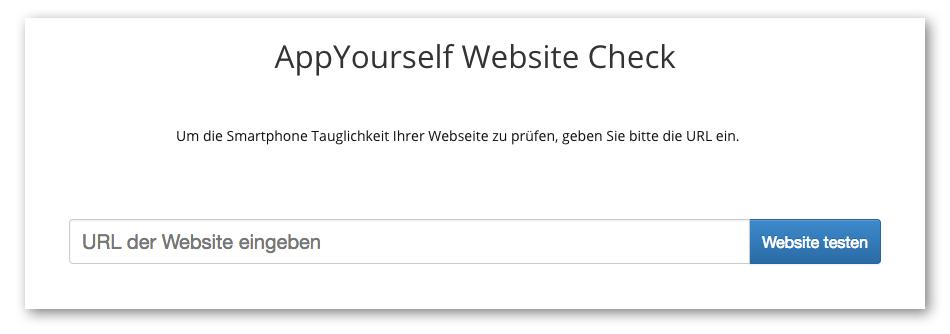 AppYourself Website Checker - Ist Ihre Website mobil optimiert?