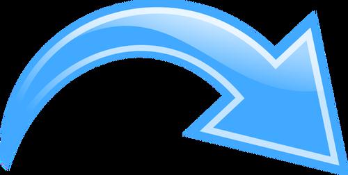 arrow-curved-blue
