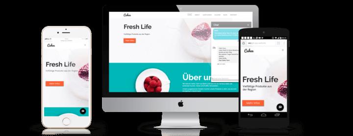 Live Chat for desktop and mobile websites