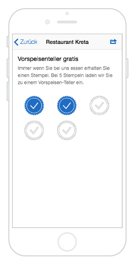 Stempelkarte in der City App Erfurt informiert