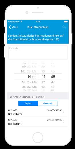 Push Nachrichten mit der Connect App verschicken