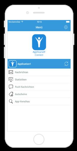 Übersicht der Connect App von AppYourself