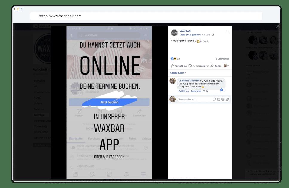 Eigene App auf Facebook und auf der Website promoten