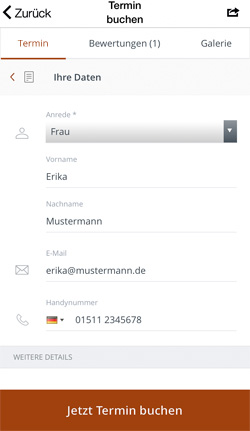 Friseur App - Mobile Terminbuchung per Handy