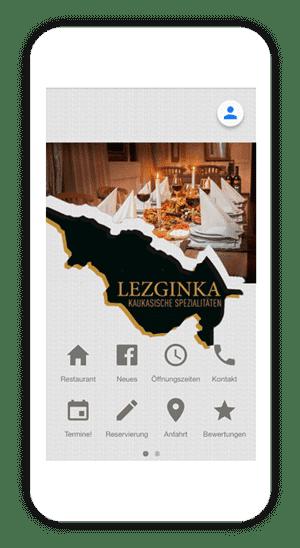 Create restaurant app with AppYourself