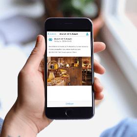 Escoge el módulo cupón en el creador de apps