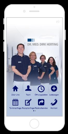 Die App von der Dr. Herting Praxis bietet Kundenservice für ihre Patienten