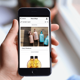 Catálogo de productos en el creador de apps para productos y servicios