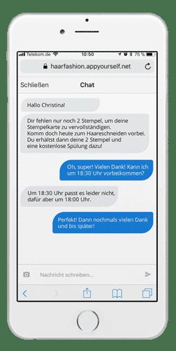 Progressive Web App mit Messenger und Chat-Funktion