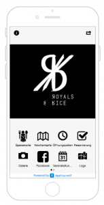 Royals & Rice App als Use Cases Optionen